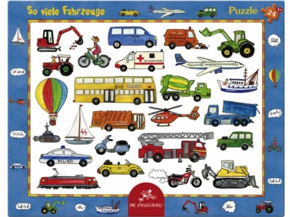 Rahmenpuzzle So viele Fahrzeuge von Spiegelburg