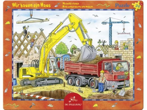 Rahmenpuzzle Wir bauen ein Haus von Spiegelburg