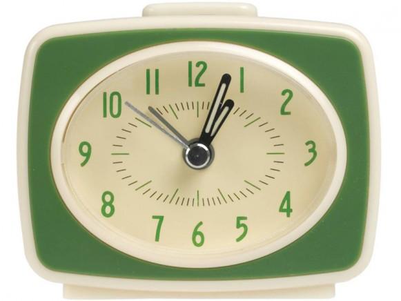 Rexinter Wecker Vintage TV-Style green
