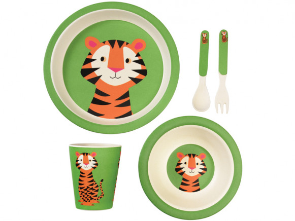 Rex London Bambus Kindergeschirr Set TIGER
