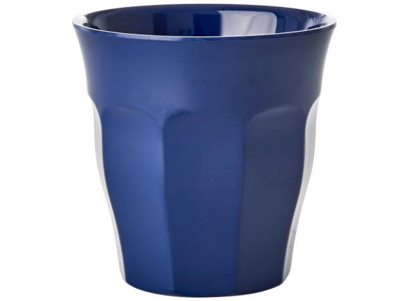 RICE Melamin Becher dunkelblau