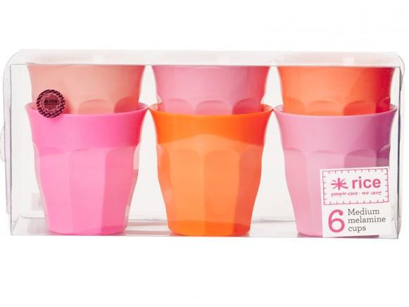 RICE Becher pink und orange Farben