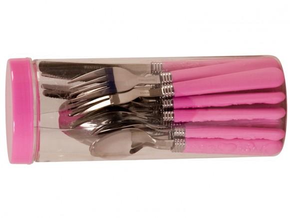 Pinkfarbenes Besteck von RICE Dänemark