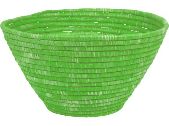 RICE Brotkorb Bast grün