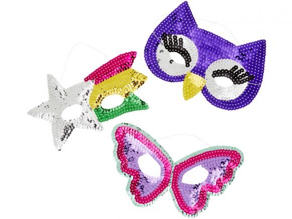 RICE 3 Glitzermasken für Kinder