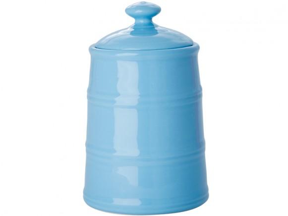 Große RICE Keramik Küchendose in blau