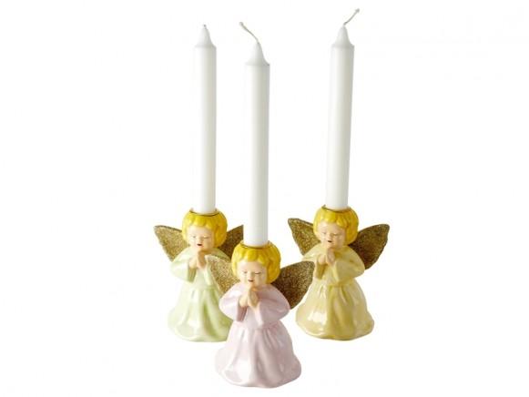 RICE Porzellan Kerzenhalter ENGEL