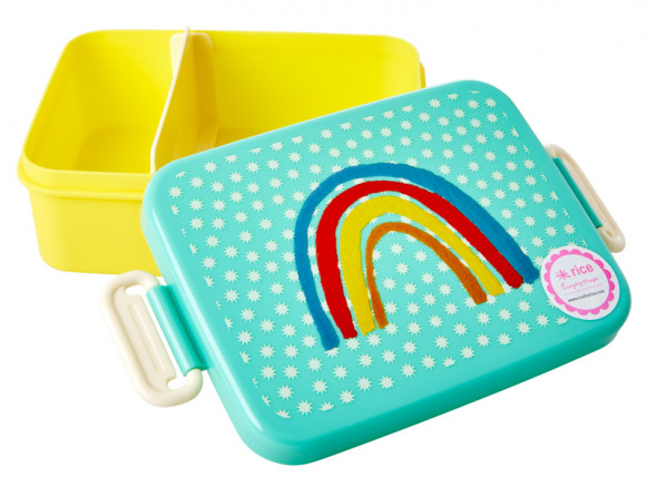 RICE Lunchbox REGENBOGEN L