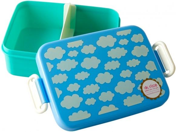RICE Lunchbox WOLKEN blau