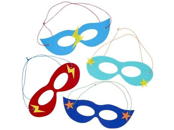 RICE Filzmasken für Kinder SUPERHELD
