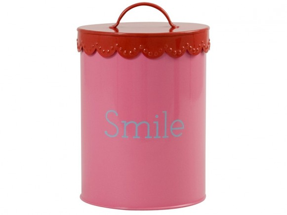 "Rosa Metalldose ""Smile"" von RICE"