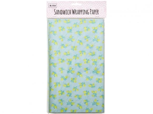 RICE Sandwichpapier ZITRONENMUSTER grün