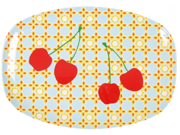 Servierteller aus Melamin mit Kirschen von RICE