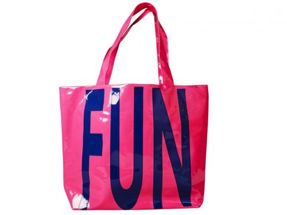 """Große Einkaufstasche mit """"Fun""""-Applikation von RICE Dänemark"""