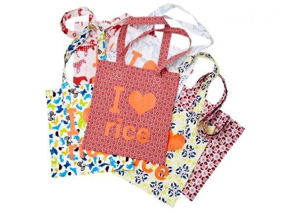 Einkaufstasche mit RICE Aufdruck