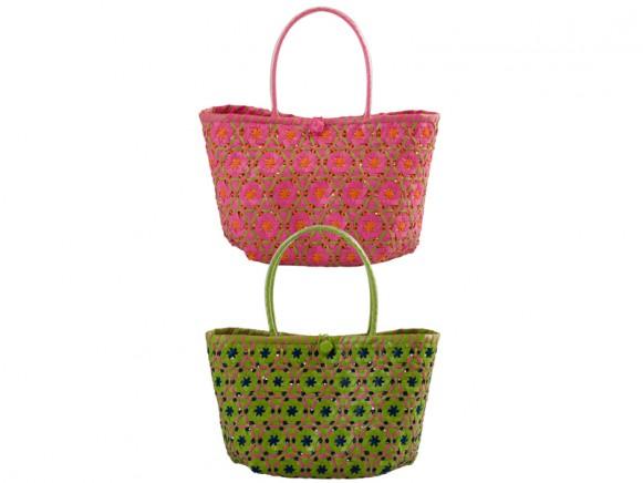 Kleine Einkaufstasche aus Plastikgeflecht von RICE