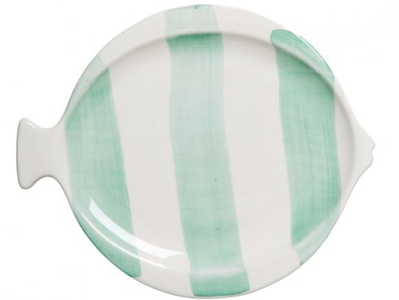 RICE Teller Fisch pastellgrün