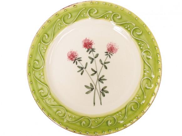 RICE Toskana Teller mit rosa Blume