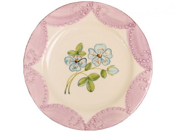 RICE Toskana Teller mit blauer Blume