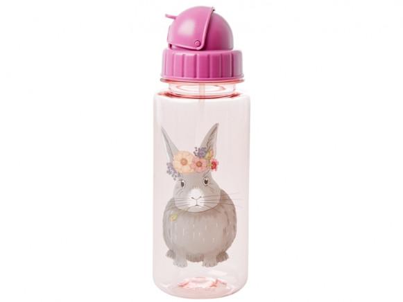 RICE Kindertrinkflasche BAUERNHOF rosa