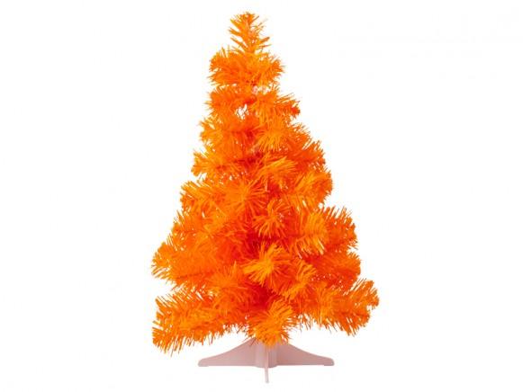 RICE Weihnachtsbaum klein neon-orange