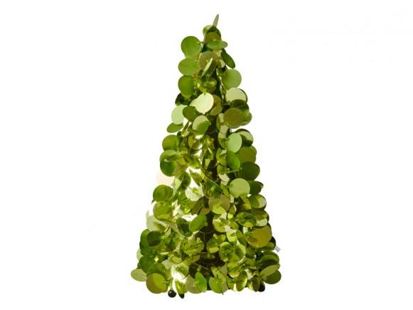 RICE Weihnachtsbaum Pailletten grün medium