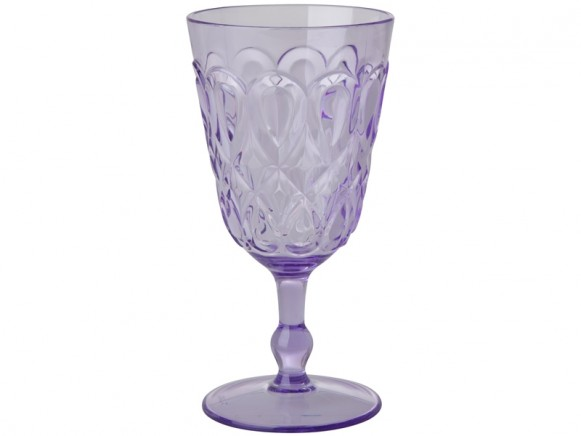 RICE Acryl-Weinglas mit WIRBELMUSTER lavendel