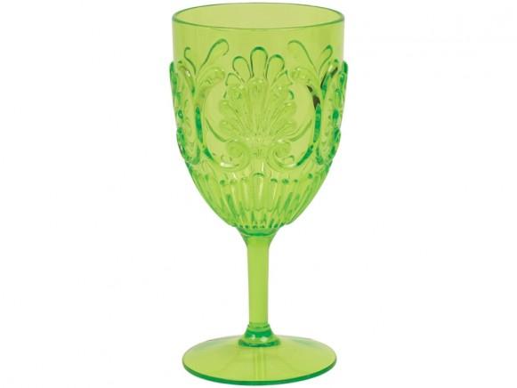 RICE Weinglas aus Acryl GRÜN