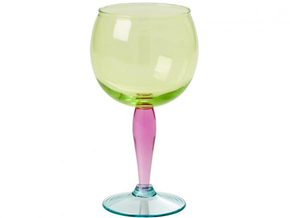 RICE Weinglas Acryl mehrfarbig