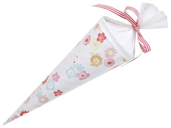 Mittelgroße Schultüte mit Blumen von krima & isa