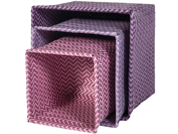 Sebra Korb-Set rosa