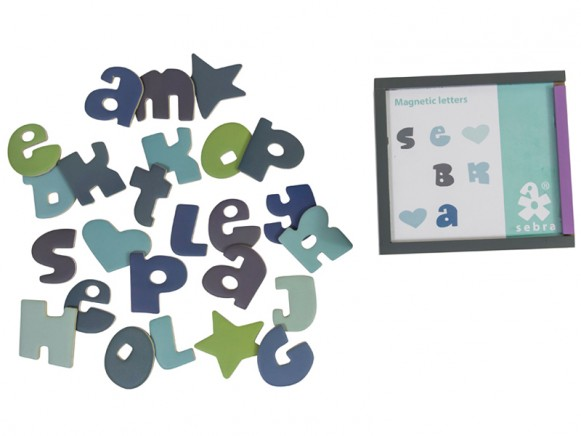 Sebra Magnetbuchstaben in Jungensfarben