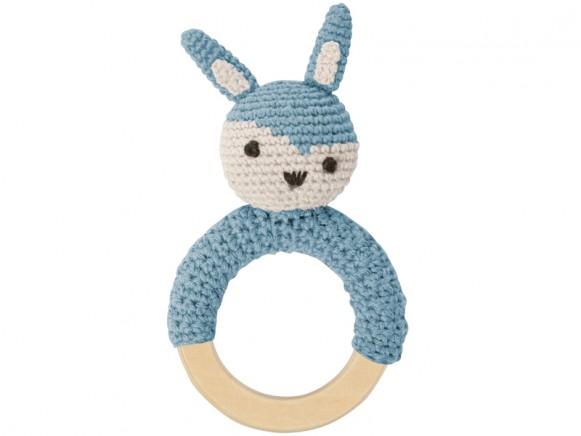 Sebra Rassel Ring Hase wolkenblau