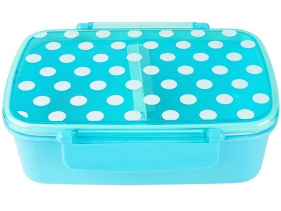 Silly Gifts Lunchbox mit Punkten in blau
