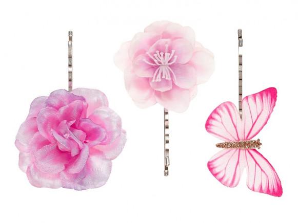 Souza 3 Haarklammern CLEO pink-lila