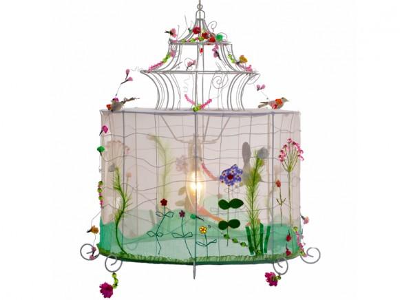 Taj Wood Lampe Vogelkäfig