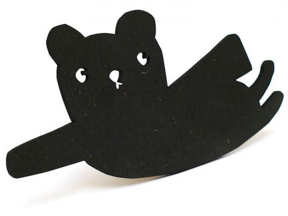 Ted & Tone Wandhaken SUPERHELD schwarz