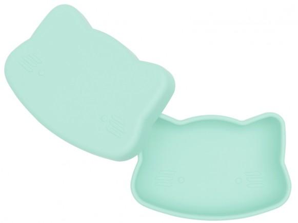 We Might Be Tiny Silikongeschirr Snackbox KATZE mint
