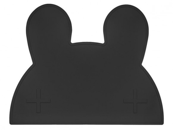 We Might Be Tiny Tischset Hase schwarz