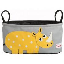 3 Sprouts Kinderwagentasche Nashorn
