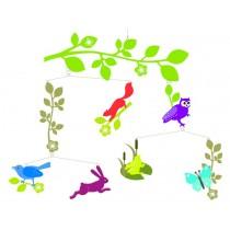 Djeco Mobile mit bunten Landtieren