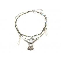 FIVA Halskette (Murano, Silberkette, versilberte Elemente)