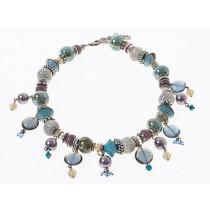 FIVA Halskette (KS, Murano, Keramik, Swarovski, Perle)