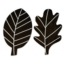 A Little Lovely Company Wandhaken Blätter schwarz