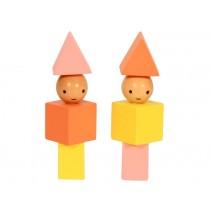 A Little Lovely Company Holzklötze Little People gelb - rot