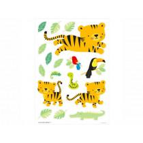 A Little Lovely Company Wandsticker DSCHUNGEL TIGER