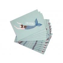 Ava & Yves Einladungskarten Set MEERJUNGFRAU
