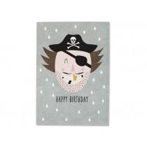Ava & Yves Postkarte PIRAT Happy Birthday
