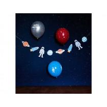 "Ava & Yves Luftballons WELTRAUM ""Happy Birthday"""