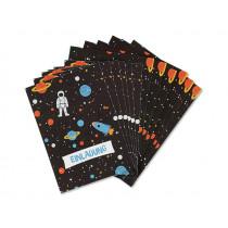 Ava & Yves Einladungskarten Set WELTRAUM